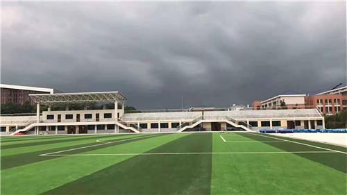 河南人造草坪在长沙百熙中学施工实景