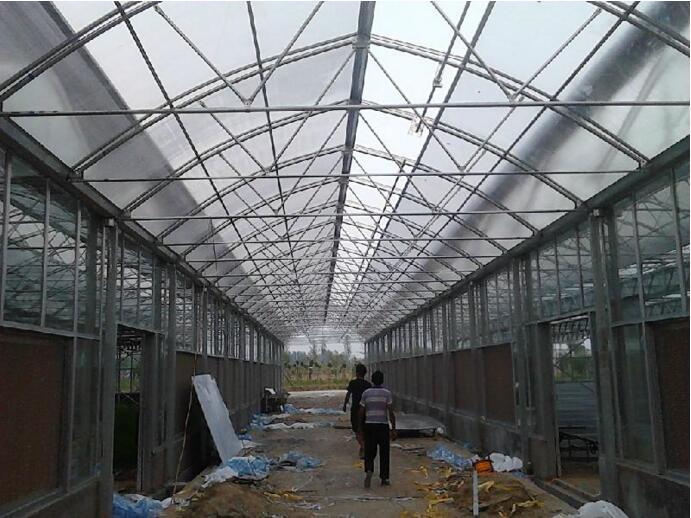 河南温室大棚在甘肃平凉施工案例
