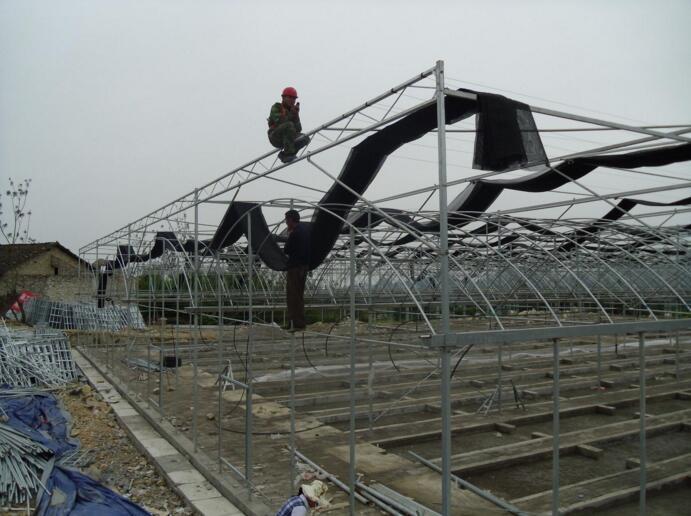 河南玻璃温室在贵州毕节施工