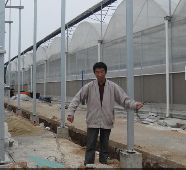 河南玻璃温室厂家在福建泉州施工现场