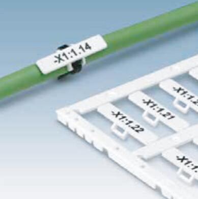 电缆标识——使用扎带固定