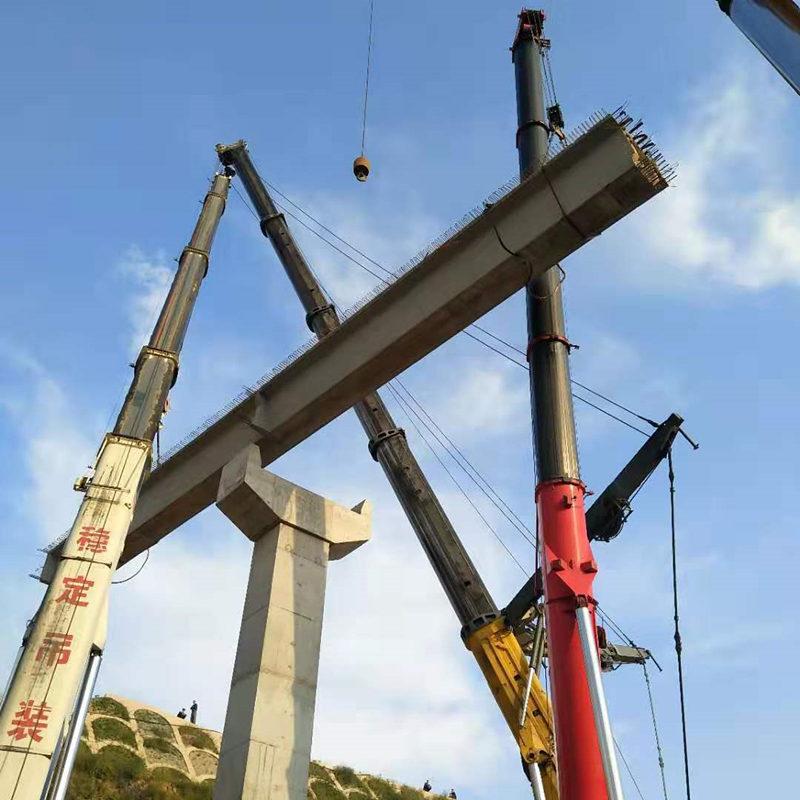 陕西桥梁架设吊车施工