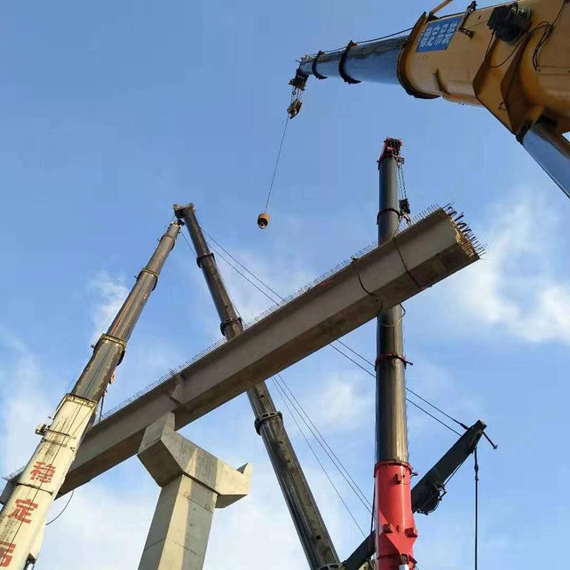 桥梁架设施工现场