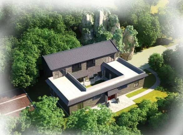四合院轻钢别墅经典风格建造入住,传承传统文化建筑艺术!