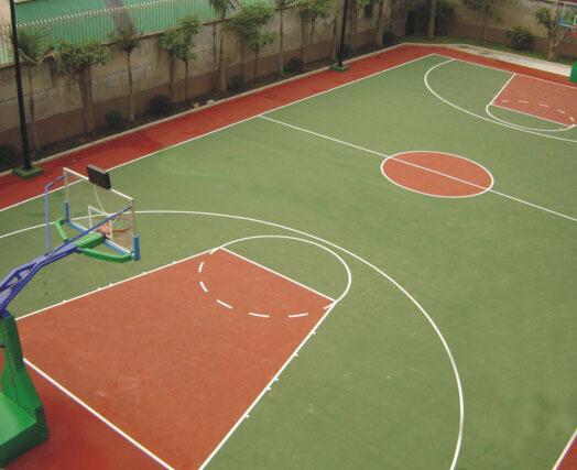 成都塑胶篮球场施工