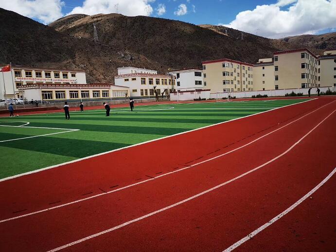 成都蓉杰体育工程案例-左贡旺达镇的场地