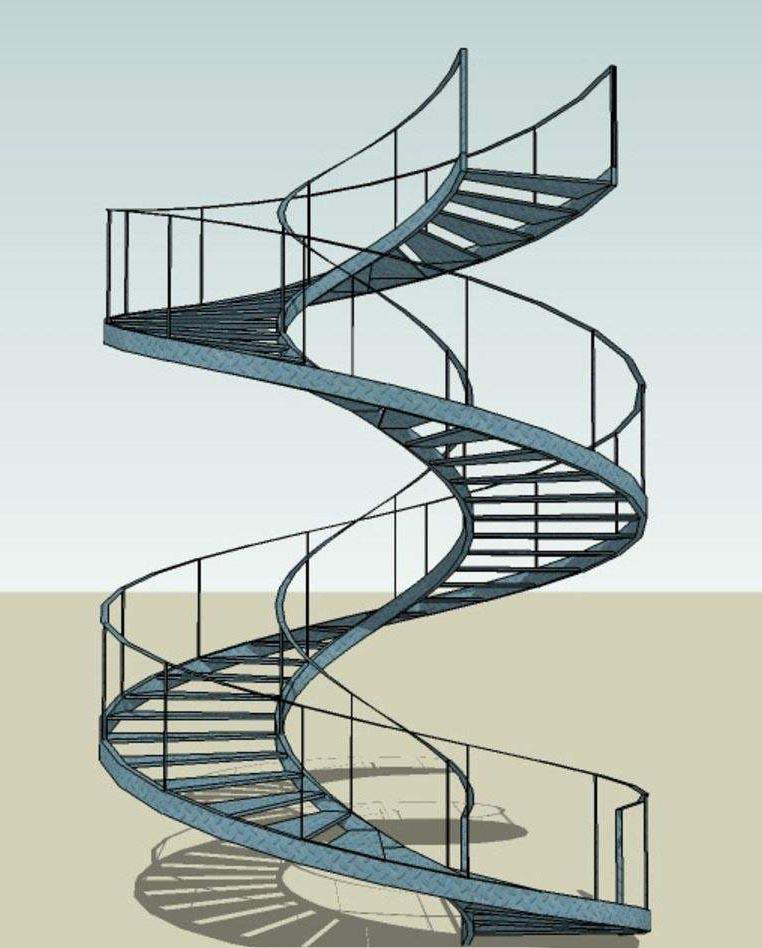 如何建造旋转式的钢结构楼梯?