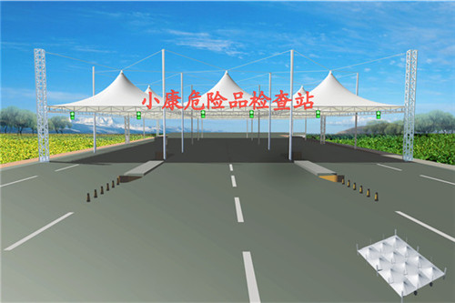西安公交站膜结构施工
