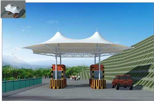公交站膜结构施工