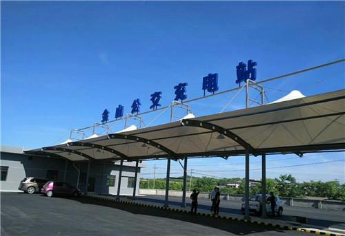 西安公交站膜结构工程