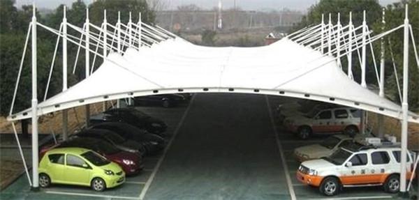 车棚膜结构安装