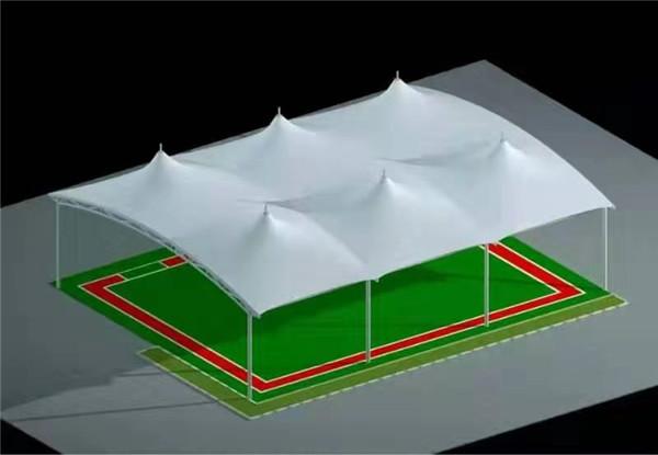 篮球场顶棚膜结构工程