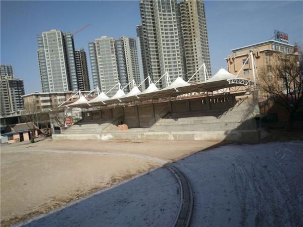庆阳陇东学院看台膜结构