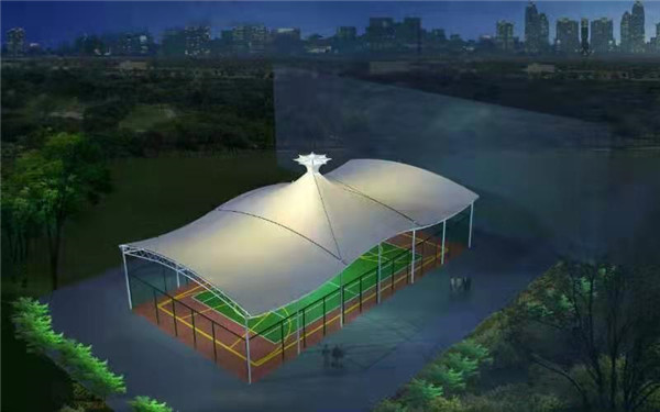 篮球场顶棚膜结构