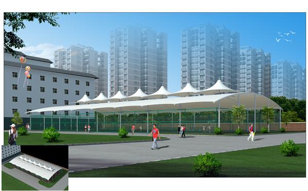 西安篮球场顶棚膜结构