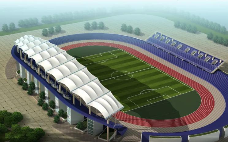 西安学校体育场看台膜结构工程
