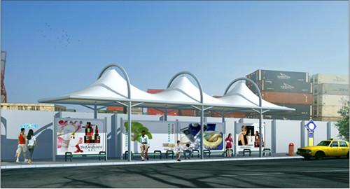 有目共睹的西安公交站膜结构发展带来了更大的机遇!