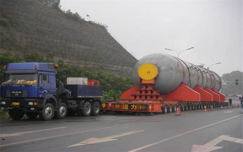 大件货物的物流运输主要体现在机械设备运输的物流