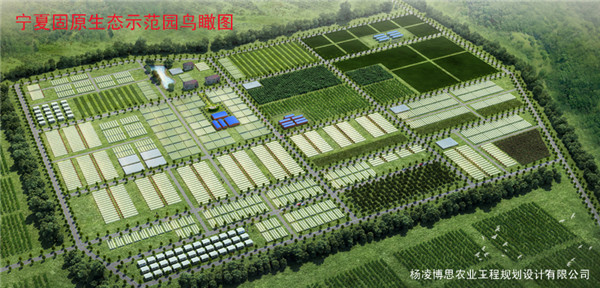 宁夏固原生态示范园鸟瞰图