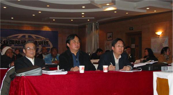公司总经理徐社德与首席顾问程智慧教授
