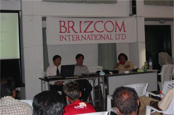 公司总经理和西北农林科技大学程智慧教授应邀在毛里求斯进行学术交流。