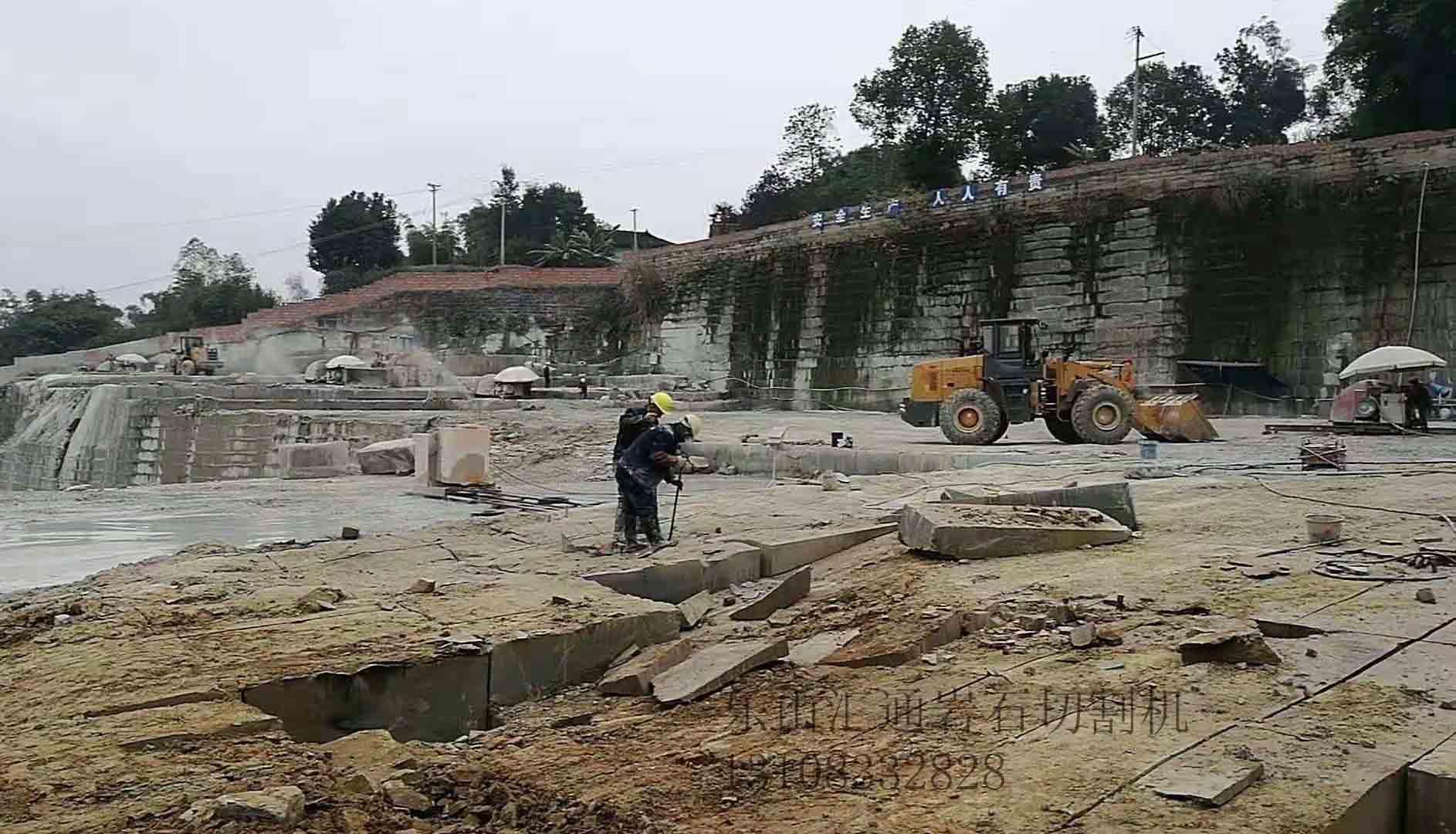 橋式石材切割機案例