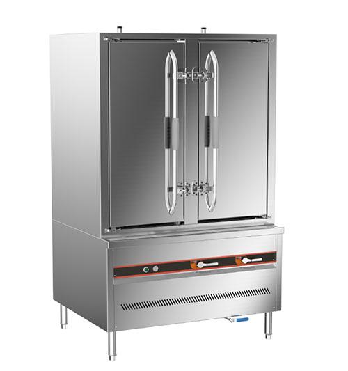 成都不鏽鋼廚房設備-環保燃氣三門海鮮蒸櫃