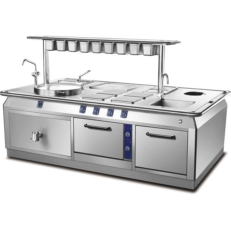 成都商用厨房设备-落地式组合炉
