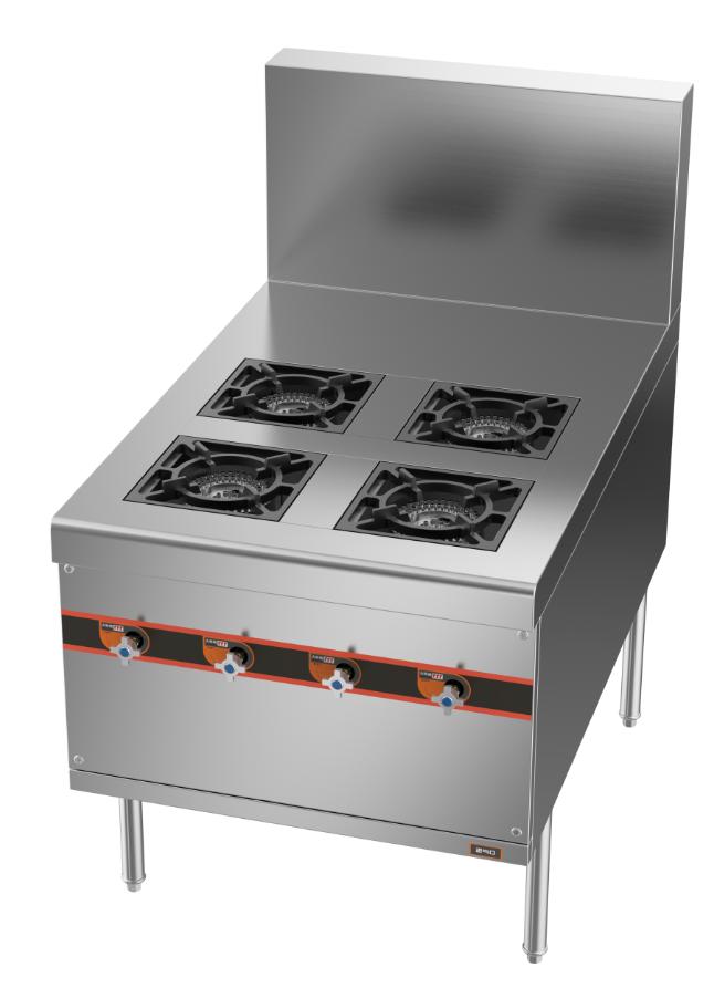 成都不锈钢厨房设备-四头燃气煲仔炉750x1150x800+410