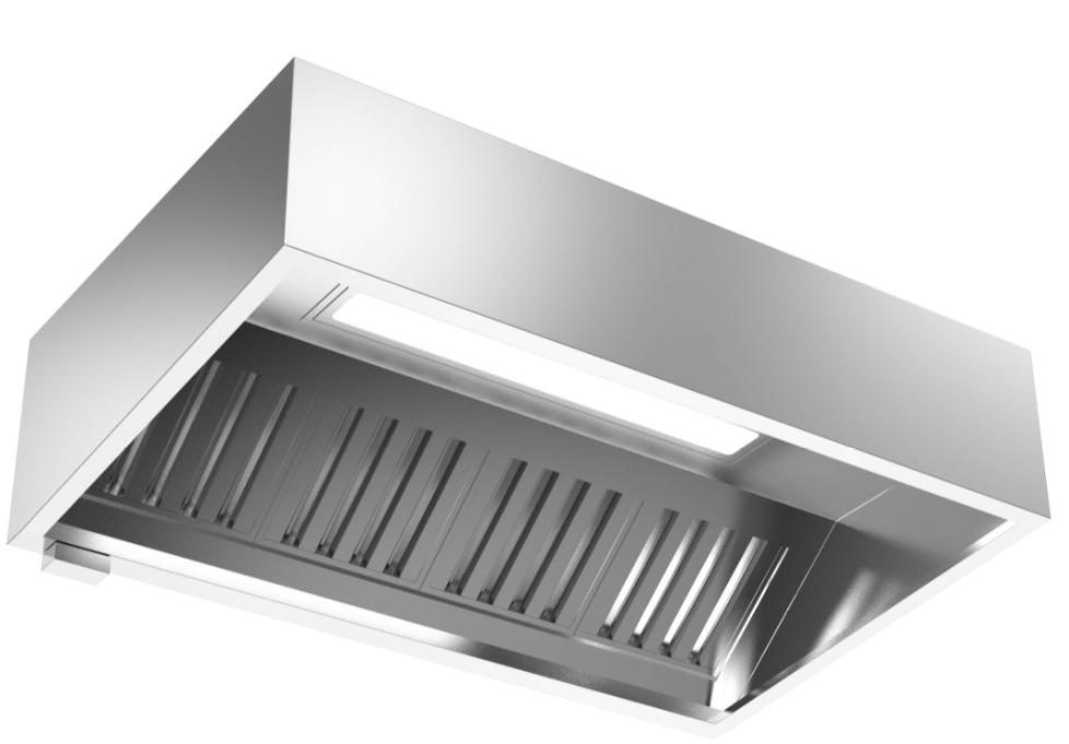 成都不锈钢厨具-直角油网烟罩Lx1400x600