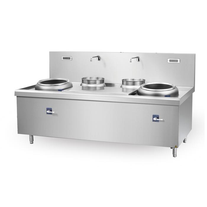 成都商用厨房设备-双头双尾电磁小炒炉