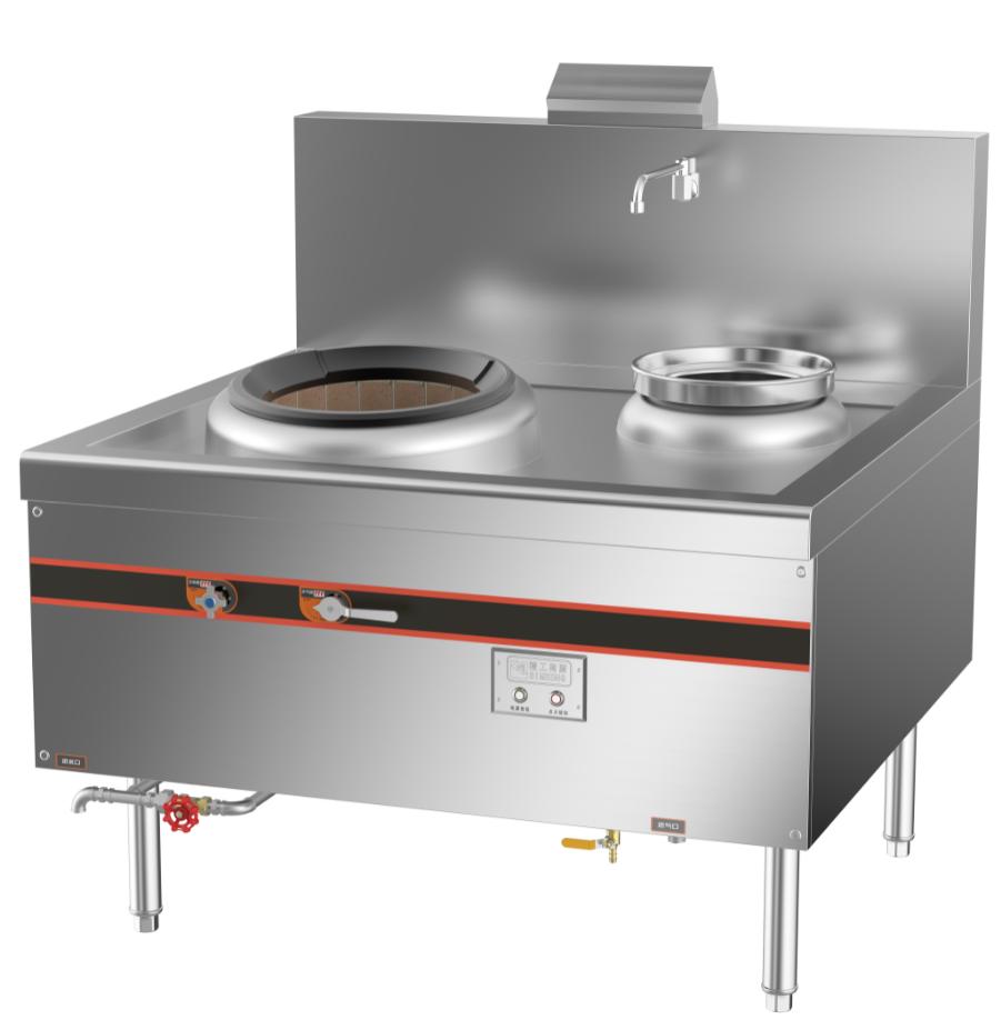 成都不锈钢厨房设备-环保单头单尾燃气小炒炉1200x1150x800+410