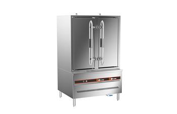成都不锈钢厨房设备-环保燃气双门20盘蒸柜:1150x910x1850