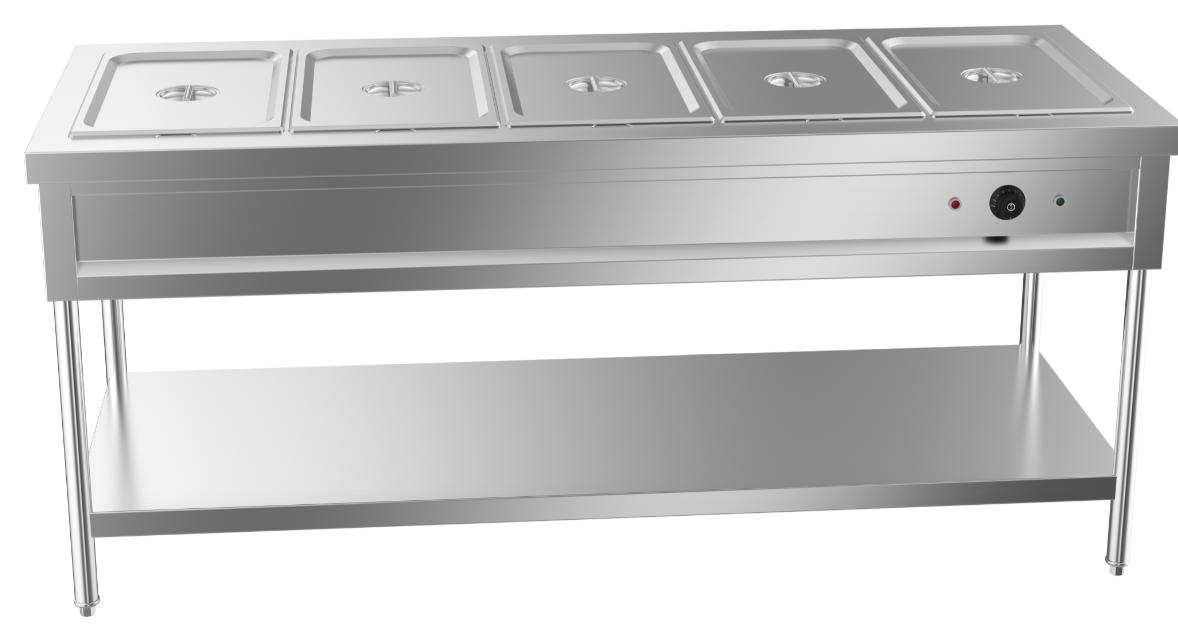 成都不锈钢厨具-五格电热汤池台1800x700x800
