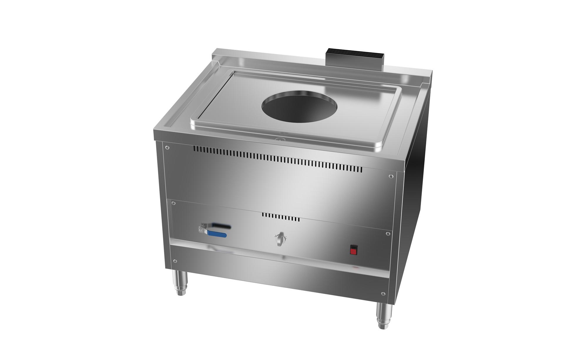 成都不锈钢厨房设备-节能燃气蒸炉(可置放φ450蒸笼隔板)950x760x800+30
