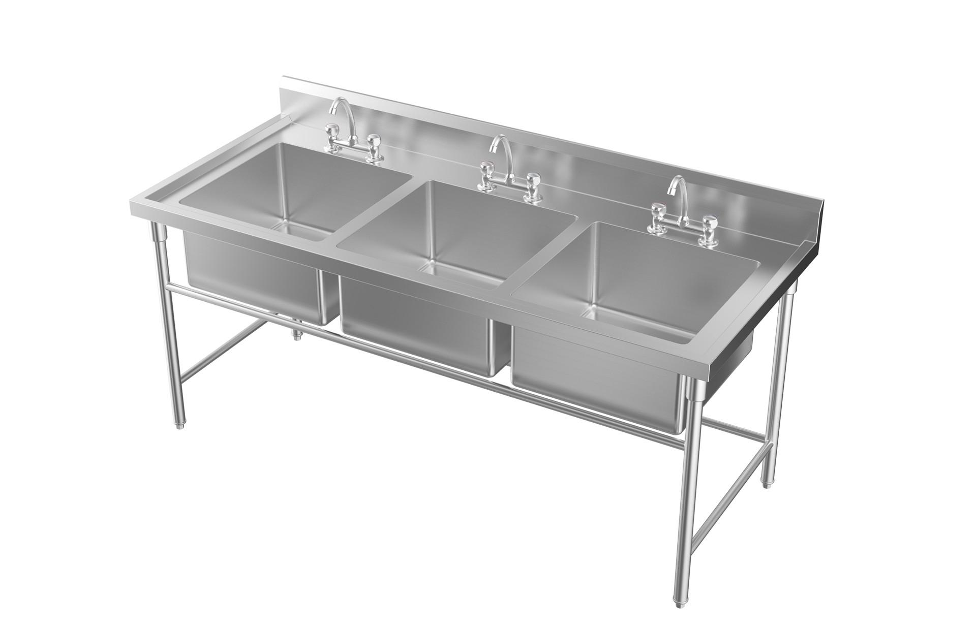 成都不锈钢厨具-三双星盆台1800x760x800+120斗500x500x280
