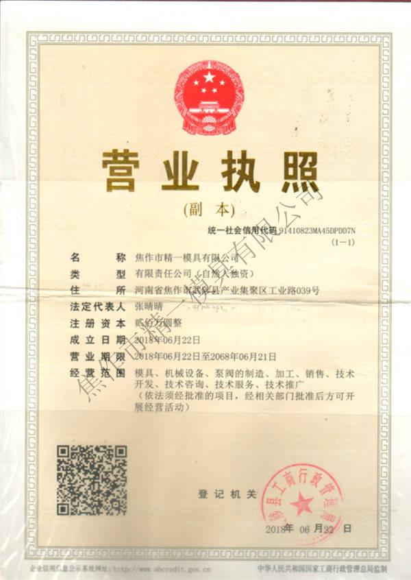 河南消失模泡沫厂家营业执照