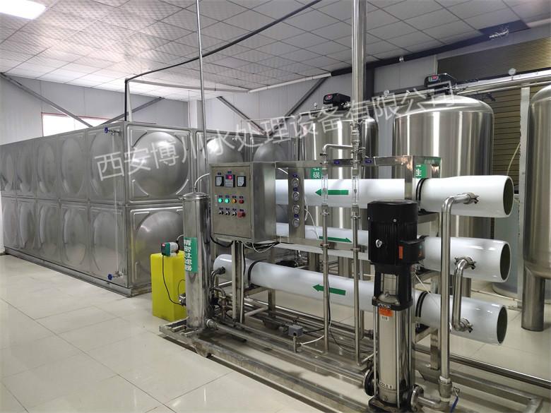 6吨纯净水设备+40吨不锈钢拼装水箱已安装完毕