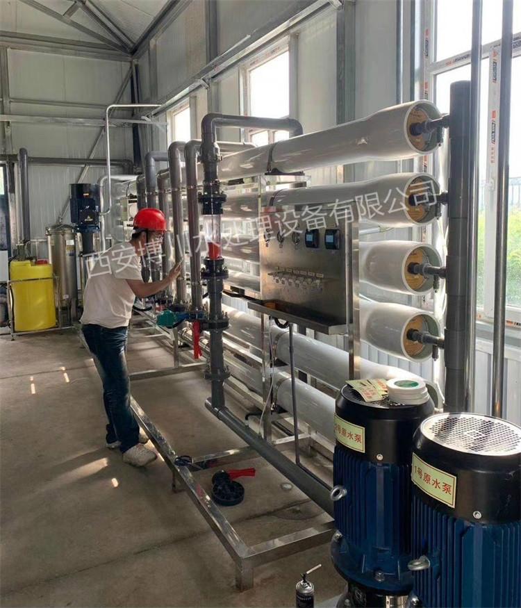 30吨水处理设备调试现场