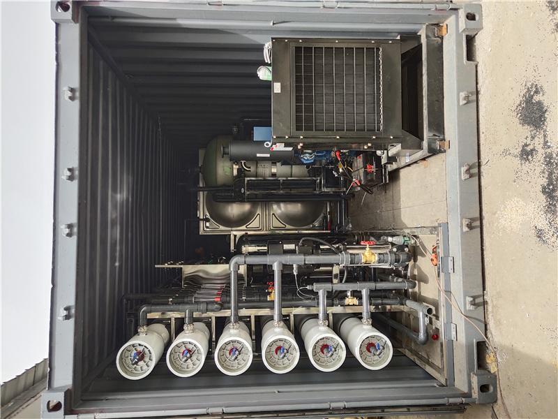撬装式一体机发电机加四吨双级反渗透加EDI