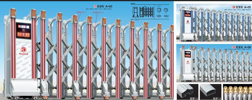 电动伸缩门型号:红宝石A-03