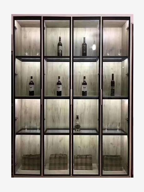 酒柜铝框门