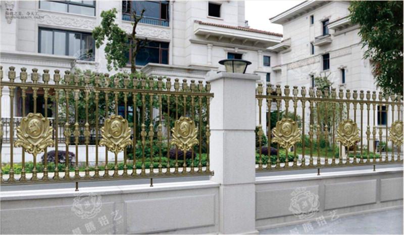 加工定制铝艺围墙护栏_别墅花园庭院