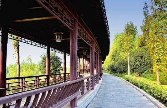 廊亭映风景,选择陕西防腐木廊亭生产厂家的理由!