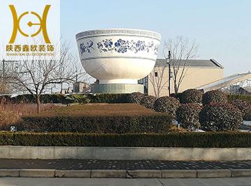西安广场装饰花盆