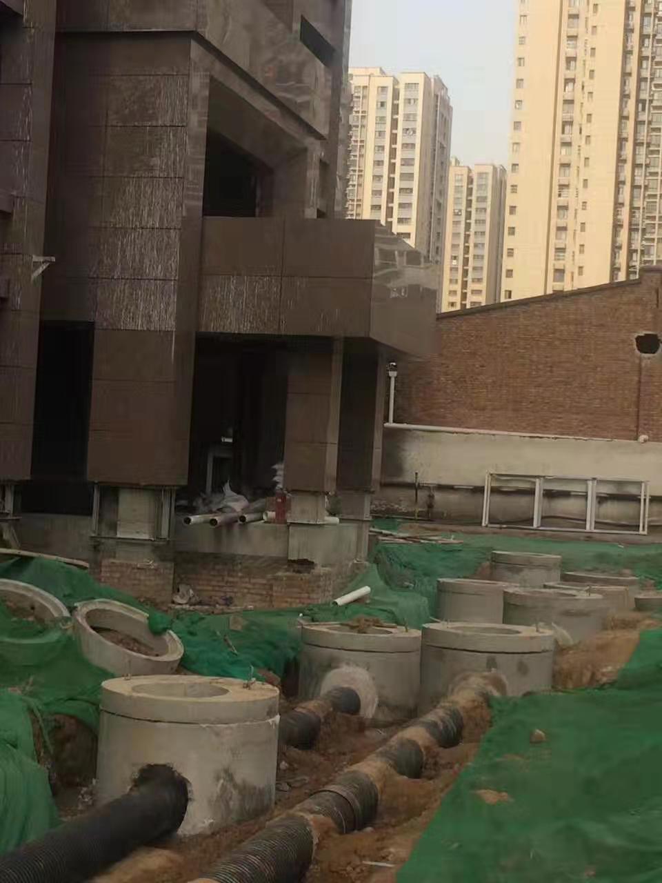 西安混凝土检查井中铁十七局家属区室外排水工程