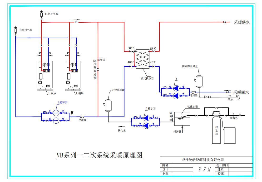 VB系列一二次系統采暖原理圖