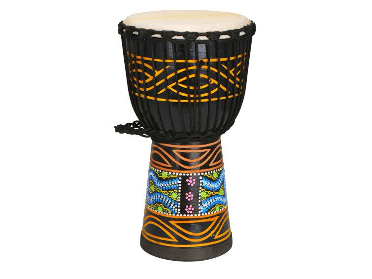 10寸雕刻实木非洲鼓