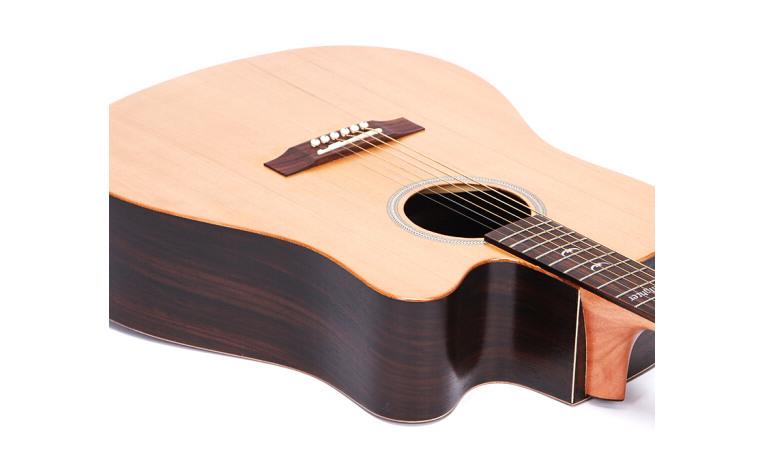 红松面单玫瑰木吉他 40寸