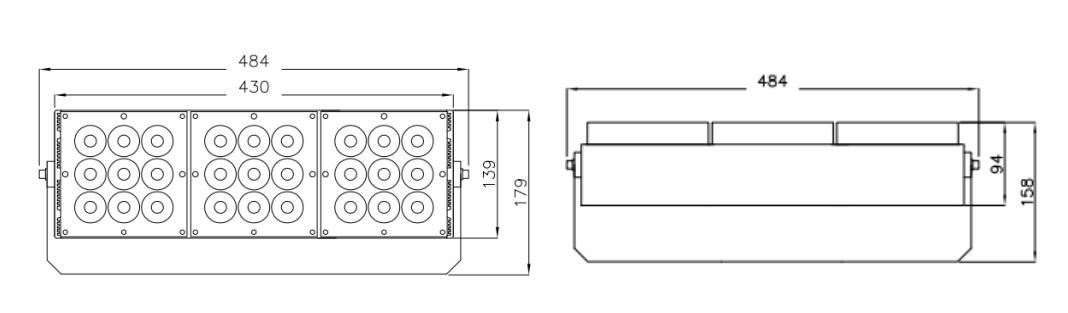 F484物理尺寸
